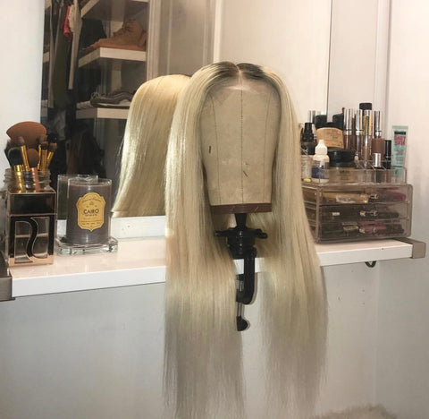 WIG: Dark root into Ash Blonde