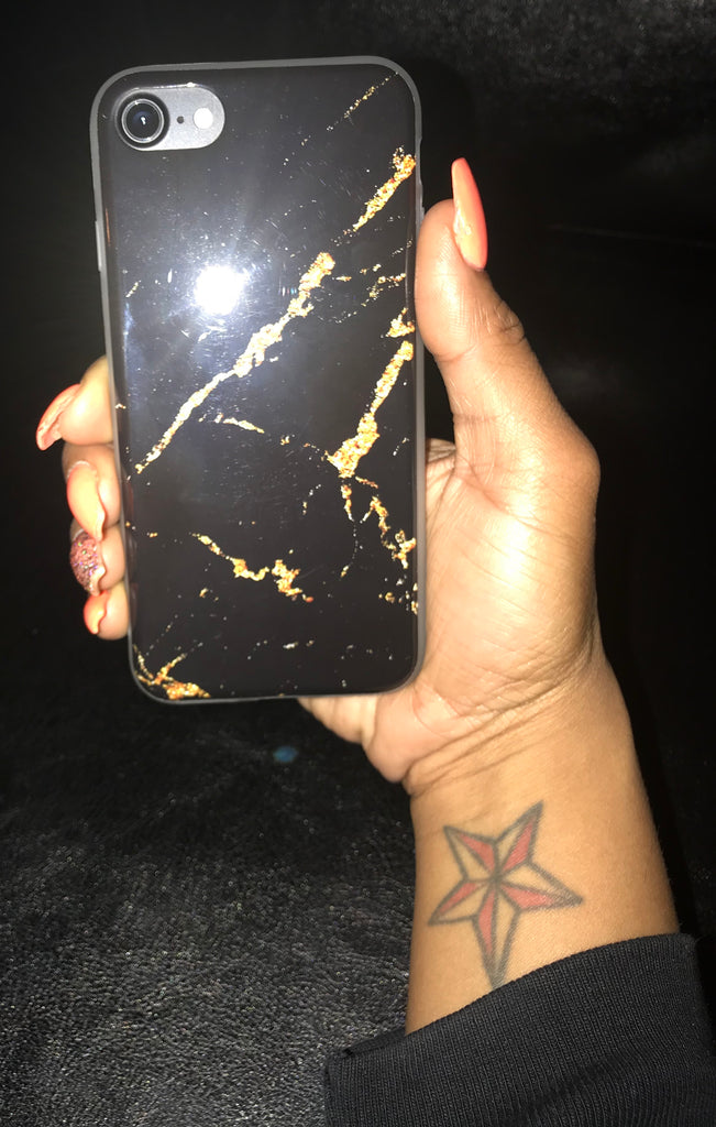 Black & Gold Marble iPhone 7/8 Case