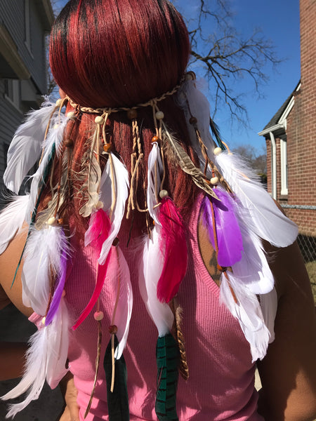 """Chella"" Feather Headbands"
