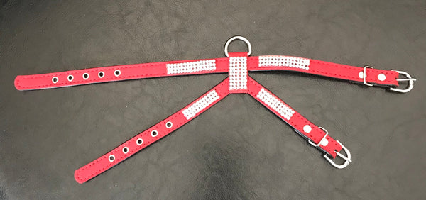 """Go Poochy"" Double Strap Bling Harness"