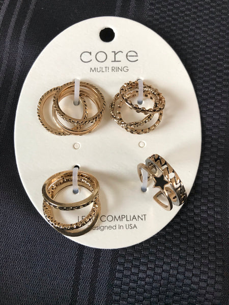 11 Piece Vintage Ring Set