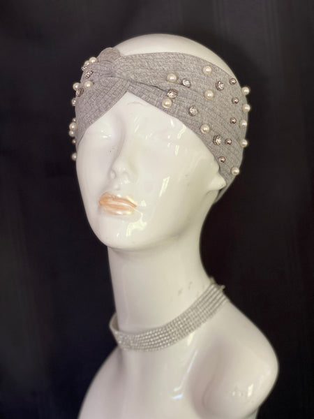 """Diamonds & Pearls"" Turban Headband"