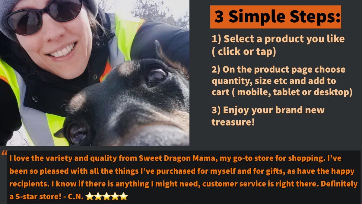 Customer with dog, customer recommendation, order directions