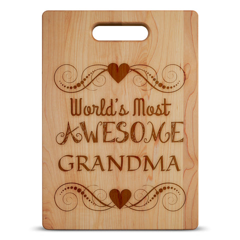 Most Awesome Grandma-Custom Cutting Board - Maple