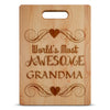 Image of Most Awesome Grandma-Custom Cutting Board - Maple