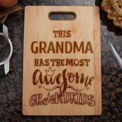 This Grandma Awesome Grandkids - Custom Cutting Board