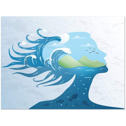 "Earth Woman Embodied  Canvas Wrap, 18''by 24' '/ 30""by 40"""