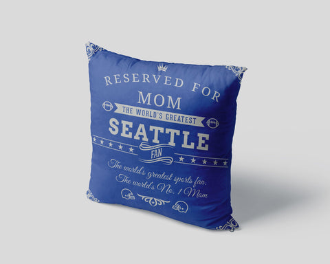 Seattle Football Fan Personalized Pillow Cover - Sweet Dragon Mama