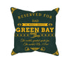 Image of Green Bay Football Fan Personalized Pillow Case