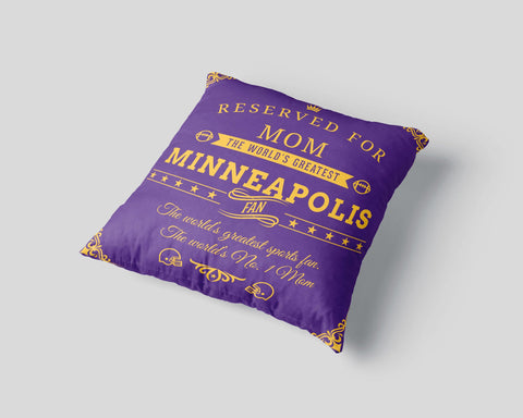 Minneapolis Football Fan Personalized Pillow Cover