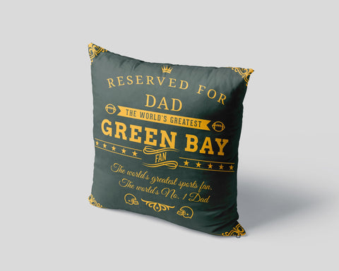 Green Bay Football Fan Personalized Pillow Case - Sweet Dragon Mama
