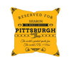 Image of Pittsburgh Football Fan Personalized  Pillow Cover - Sweet Dragon Mama