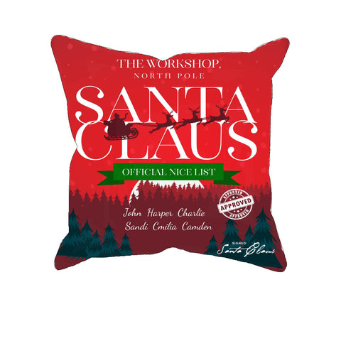 Official Nice List - Personalized Pillow Cover