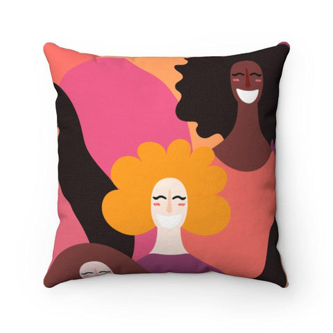 Girl Power Spun Polyester Square Pillow