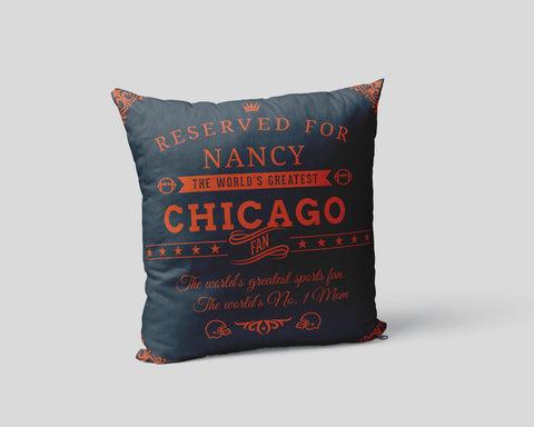 Chicago Football Fan Personalized Pillow Case