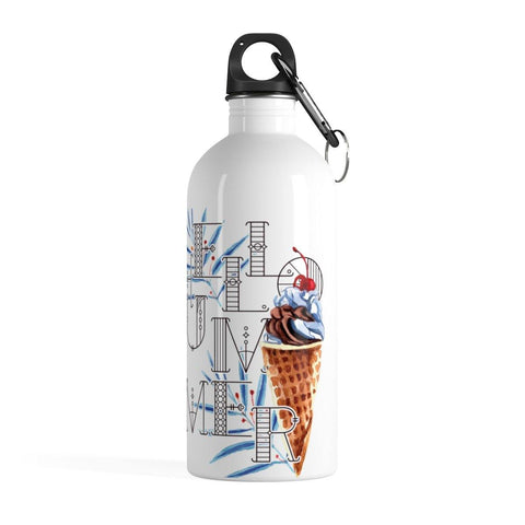 Love Summer Ice Cream Stainless Steel Water Bottle