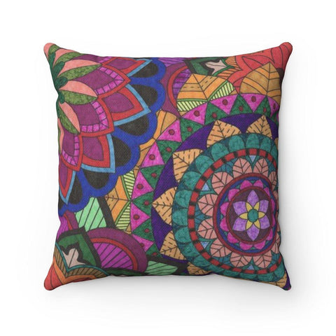 Color Burst Spun Polyester Square Pillow - Sweet Dragon Mama