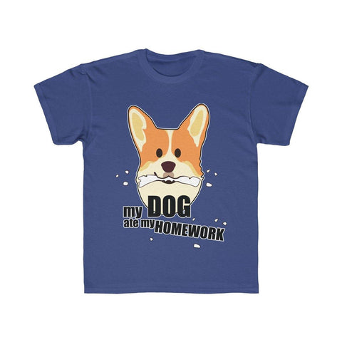 My Dog Ate My Homework Kids Regular Fit Tee