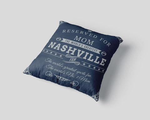 Nashville Football Fan Personalized Pillow Cover