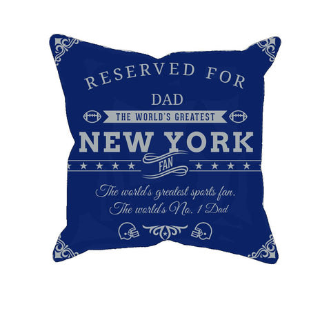 New York 2 Football Fan Personalized Pillow Cover - Sweet Dragon Mama