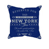 Image of New York 2 Football Fan Personalized Pillow Cover - Sweet Dragon Mama