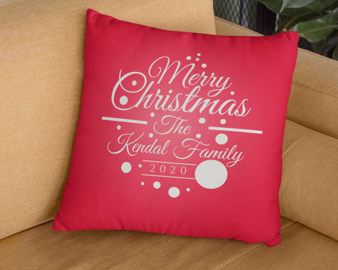 Merry Christmas 2020 - Personalized Pillow Cover