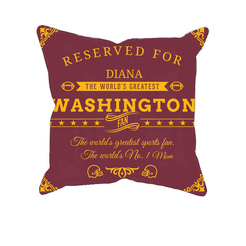 Washington Football Fan Personalized PillowCover - Sweet Dragon Mama