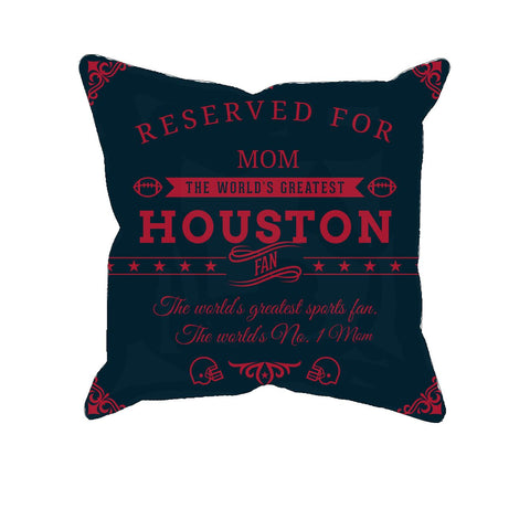 Houston Football Fan Personalized Pillow Cover
