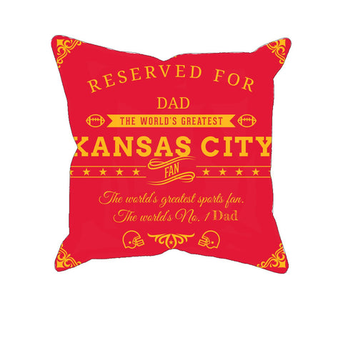 Kansas City Football Fan Personalized Pillow Cover