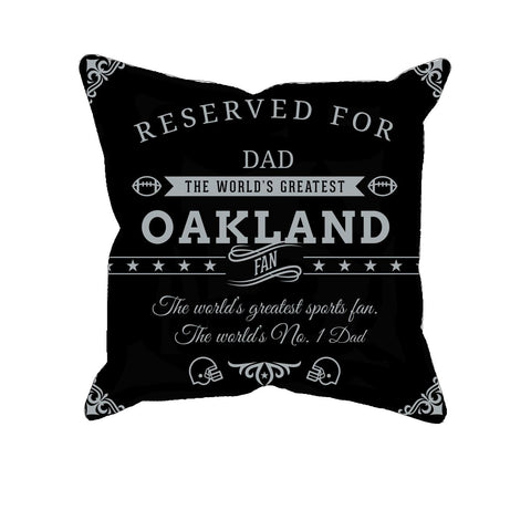 Oakland Football Fan Personalized Pillow Cover
