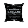 Image of Oakland Football Fan Personalized Pillow Cover