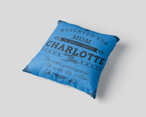 Charlotte Football Fan Personalized Pillow Cover