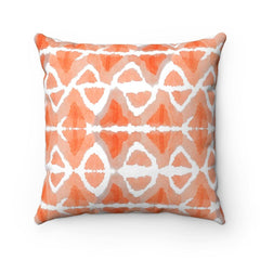 Peachy Spun Polyester Square Pillow