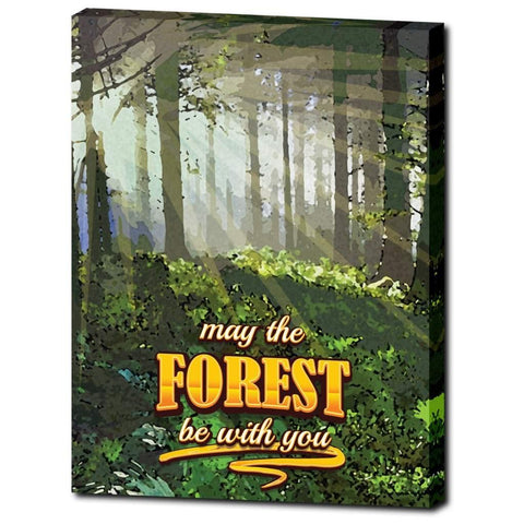 Forest Morning Premium Canvas Wrap with and without Frame