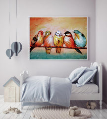 """Flock Time""- Canvas Wrap 20' by 30' with and without Frame"