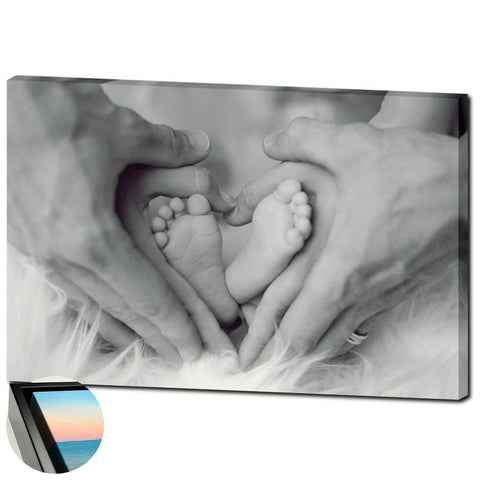 "Family Heart- Canvas Wrap, 24"" by 36"", with/without external frame"