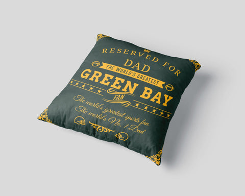 Green Bay Football Fan Personalized Pillow Case