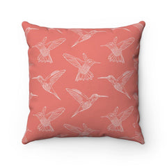 Hummingbird Flight Spun Polyester Square Pillow