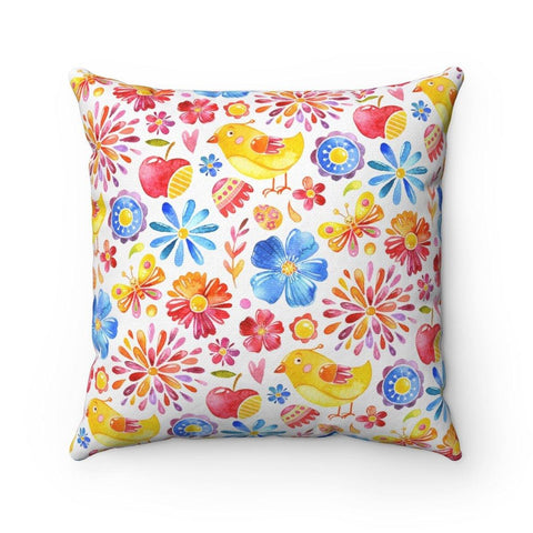 The Sights and Sounds of Spring Polyester Square Pillow