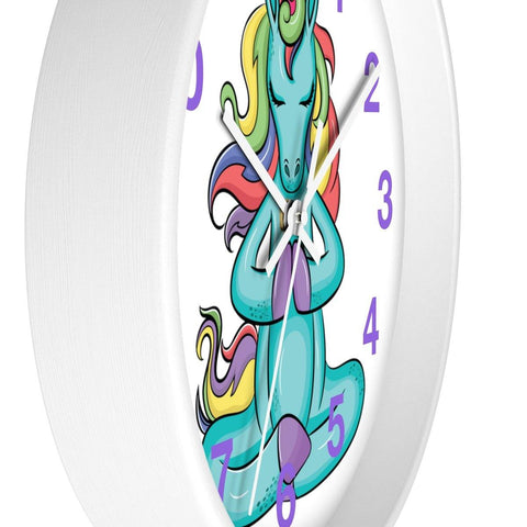 Unicorn Meditation Wall clock
