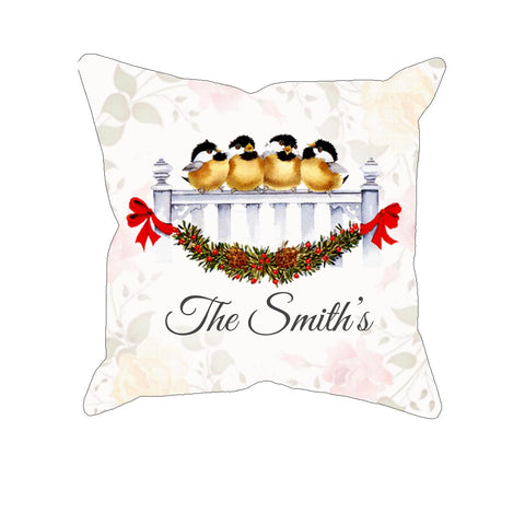 Robins Watercolor - Personalized Pillow Case