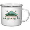 Image of Adventuring Together Personalized Tin Camp Mug Color Design 10 - Sweet Dragon Mama