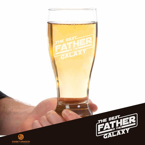 Best Father in the Galaxy Pilsner Glass