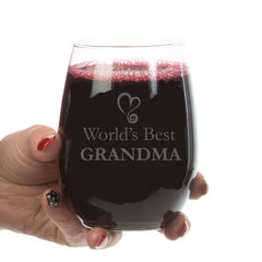 World's Best Grandma Stemless Wine Glass-21 oz