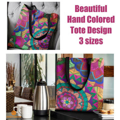 Color Burst Tote Bag - Sweet Dragon Mama