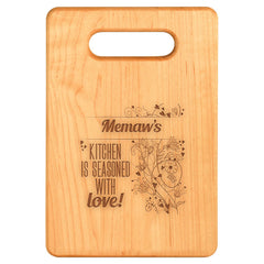 Seasoned With Love- Custom Cutting Board - Maple