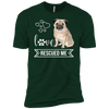 Image of Pug Love Rescued Me Short Sleeve T-Shirt
