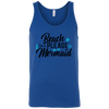Image of Beach Please, Mermaid 3480 Bella + Canvas Unisex Tank