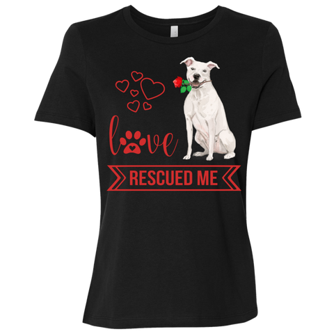 Love Rescued Me-Bull Terrier Short-Sleeve T-Shirt