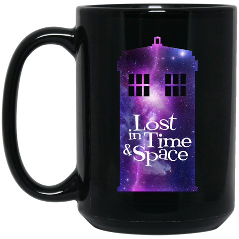 Lost in Time Black Mugs